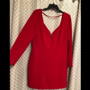 Red dress from Express